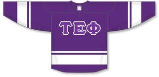 DISCOUNT-Tau Epsilon Phi Breakaway Lettered Hockey Jersey