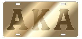 Alpha Kappa Alpha Satin Background, Gold