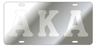 Alpha Kappa Alpha Silver Background, Satin