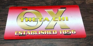 Super Savings - Theta Chi Established License Cover - RED