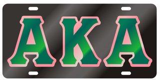 Alpha Kappa Alpha Black Background, Green