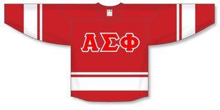 DISCOUNT-Alpha Sigma Phi Breakaway Lettered Hockey Jersey