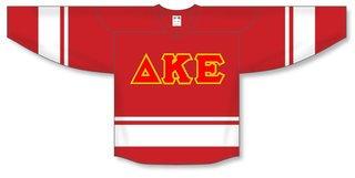 DISCOUNT-Delta Kappa Epsilon Breakaway Lettered Hockey Jersey