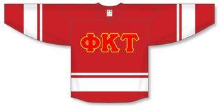 DISCOUNT-Phi Kappa Tau Breakaway Lettered Hockey Jersey