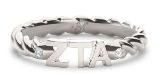 Zeta Tau Alpha Sorority Twist Ring- Closeout
