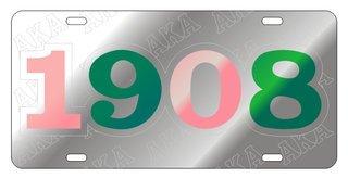 Alpha Kappa Alpha Founder Back License Plate, Silver