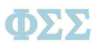 """Phi Sigma Sigma Mascot Greek Letter Sticker - 2.5"""" Tall"""