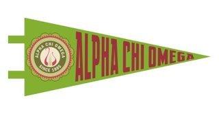 Alpha Chi Omega Pennant Decal Sticker