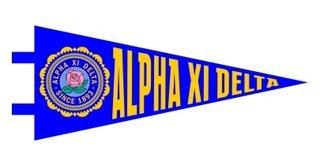 Alpha Xi Delta Pennant Decal Sticker
