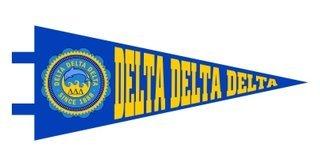 Delta Delta Delta Pennant Decal Sticker