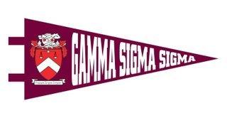 Gamma Sigma Sigma Pennant Decal Sticker