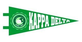 Kappa Delta Pennant Decal Sticker