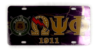 Omega Psi Phi D9 Crest License Plates