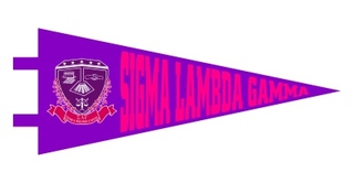 Sigma Lambda Gamma Pennant Decal Sticker