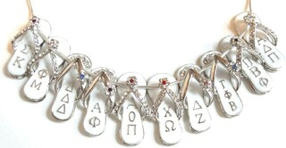 Sorority Flip Flop Charms