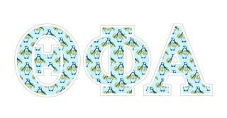 """Theta Phi Alpha Mascot Greek Letter Sticker - 2.5"""" Tall"""