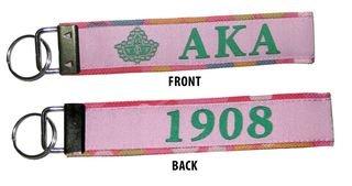 Alpha Kappa Alpha Fabric Key Chain