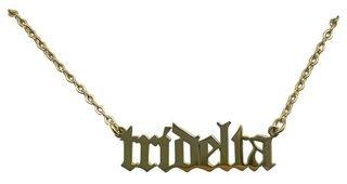 Delta Delta Delta Old English Necklaces