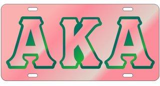 Alpha Kappa Alpha Colored Mirror Background, Pink
