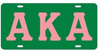 Alpha Kappa Alpha Raised Letter Plate, Pink