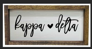 Kappa Delta Script Wooden Signs