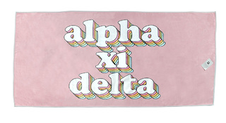 Alpha Xi Delta Plush Retro Beach Towel