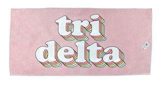Delta Delta Delta Plush Retro Beach Towel