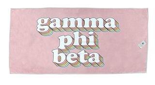 Gamma Phi Beta Plush Retro Beach Towel