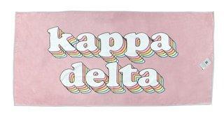 Kappa Delta Plush Retro Beach Towel