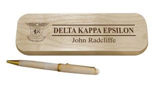 Delta Kappa Epsilon Maple Wood Pen Set