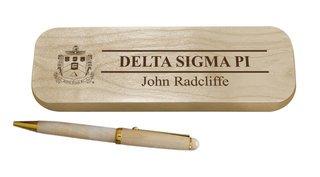 Delta Sigma Phi Maple Wood Pen Set