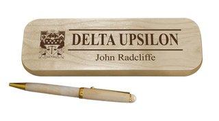 Delta Upsilon Maple Wood Pen Set