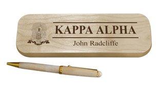 Kappa Alpha Maple Wood Pen Set
