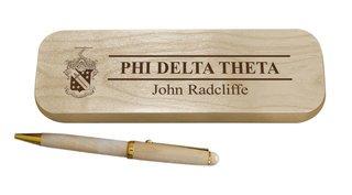 Phi Delta Theta Maple Wood Pen Set