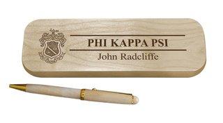 Phi Kappa Psi Maple Wood Pen Set