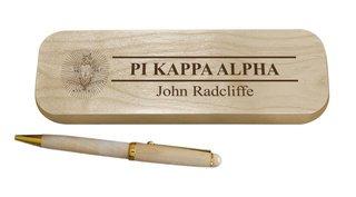 Pi Kappa Alpha Maple Wood Pen Set