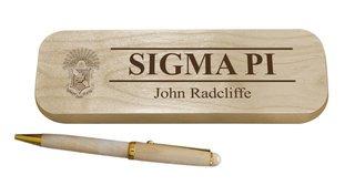 Sigma Pi Maple Wood Pen Set