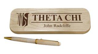 Theta Chi Maple Wood Pen Set