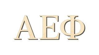 Alpha Epsilon Phi Big Wooden Greek Letters