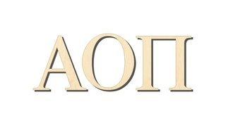 Alpha Omicron Pi Big Wooden Greek Letters