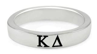 Kappa Delta Sterling Silver Skinny Band Ring