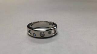 Super Savings - Alpha Omicron Pi Sterling Silver Ring with Hearts and Cubic Zirconias - SILVER