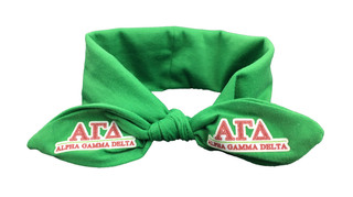 Alpha Gamma Delta Knotted Cotton Headband