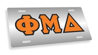 Phi Mu Delta Lettered License Cover