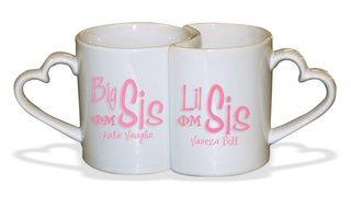 Big Sis / Lil' Sis Heart Mug