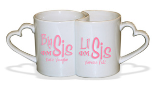 Big Sis / Lil' Sis Heart Mug