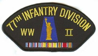 77th Infantry Division WWII Hat Patch