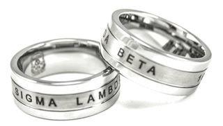 Sigma Lambda Beta Tungsten Ring