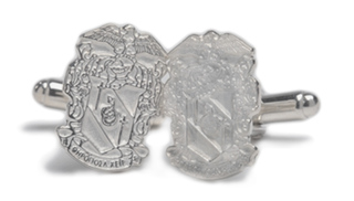 Theta Chi Sterling Silver Crest Cufflinks