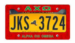 Alpha Chi Omega New License Plate Frame